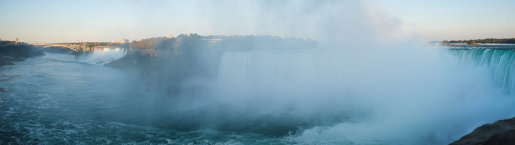 Panorama of both Niagra Falls